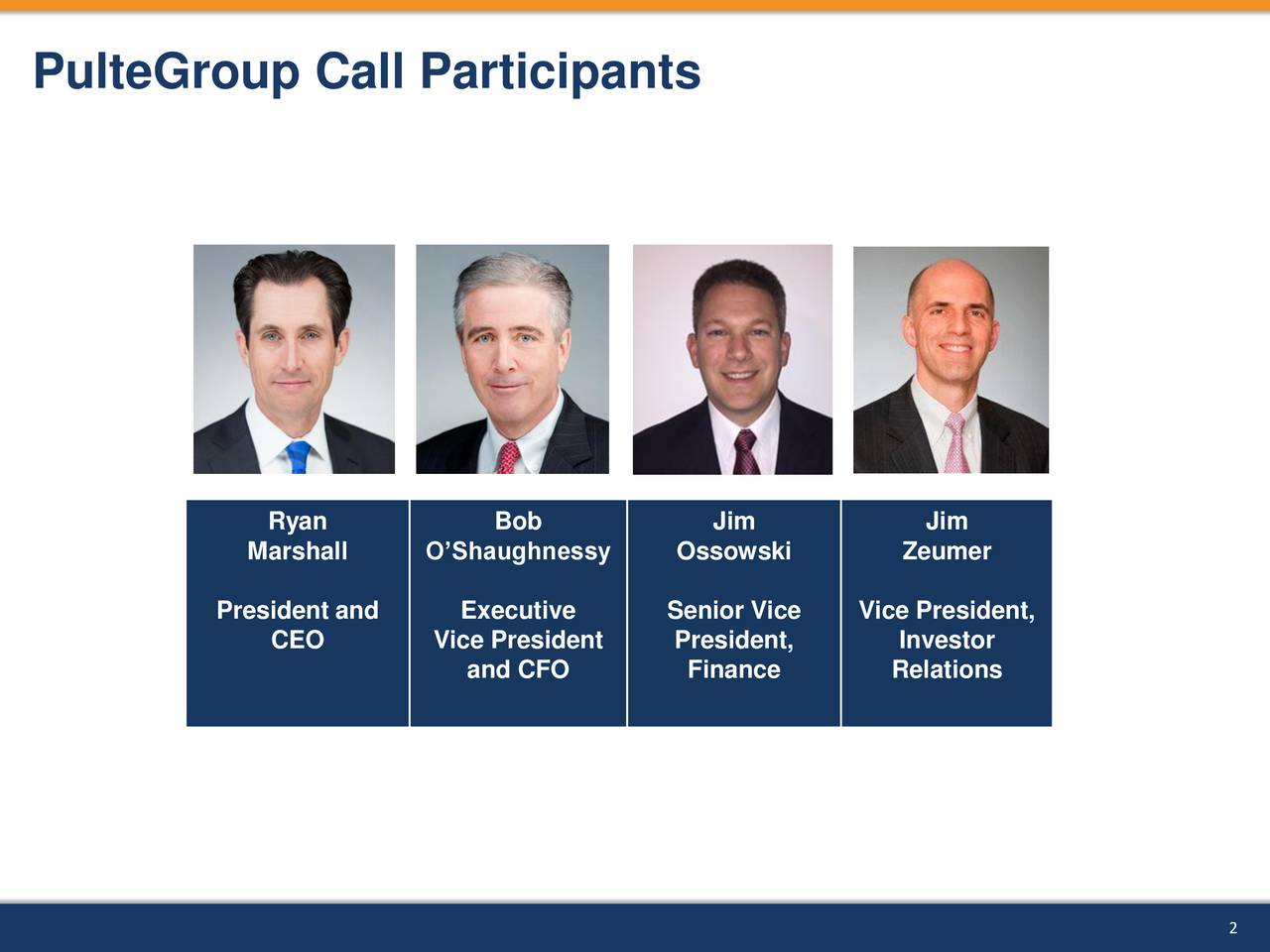 PulteGroup Call Participants