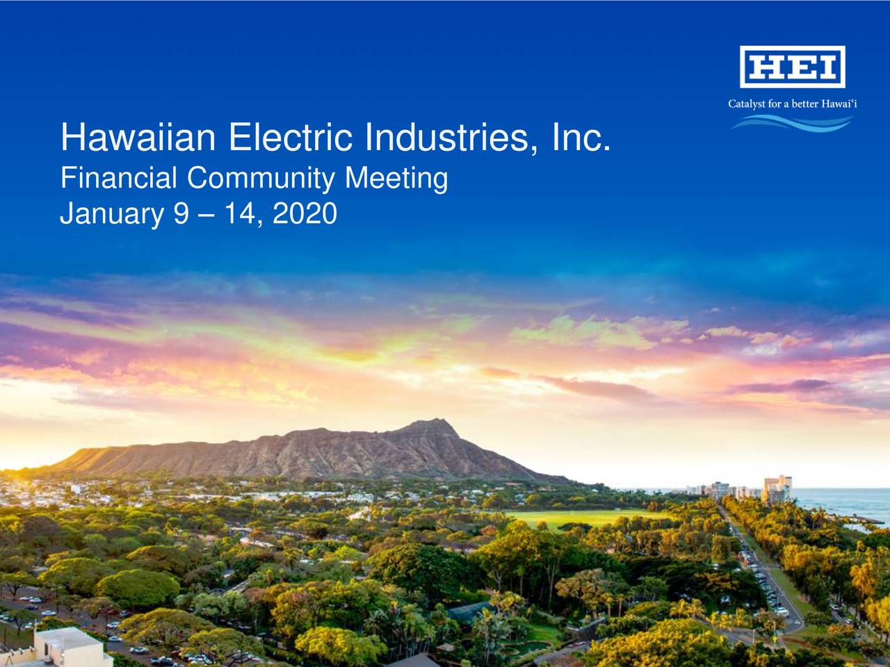 Hawaiian Electric Industries, Inc.
