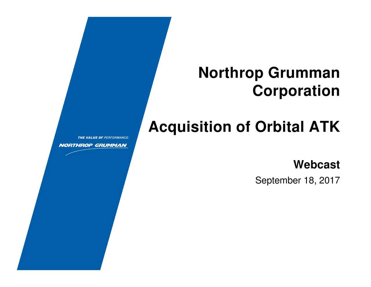 financial analysis of northrop grumman Northrop grumman corporation financial and strategic analysis review summary northrop grumman corporation (northrop grumman) is a global defense and technology company offering products and.