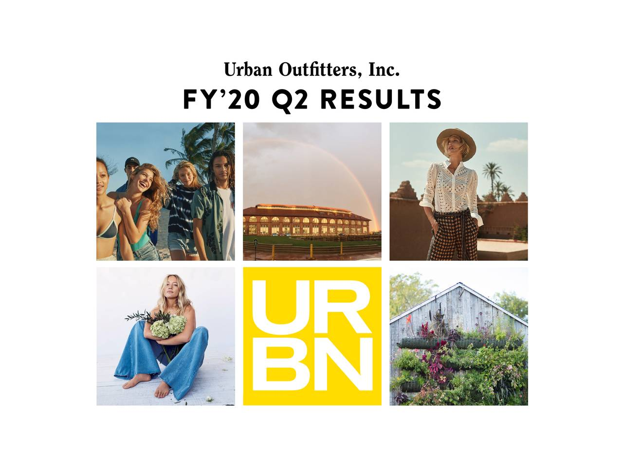 Urban Outfitters, Inc. 2020 Q2 - Results - Earnings Call Slides