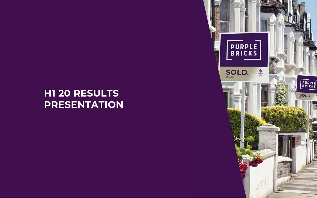 Purplebricks Group plc 2020 Q2 - Results - Earnings Call Presentation - Purplebricks Group plc (OTCMKTS:PRPPF) | Seeking Alpha