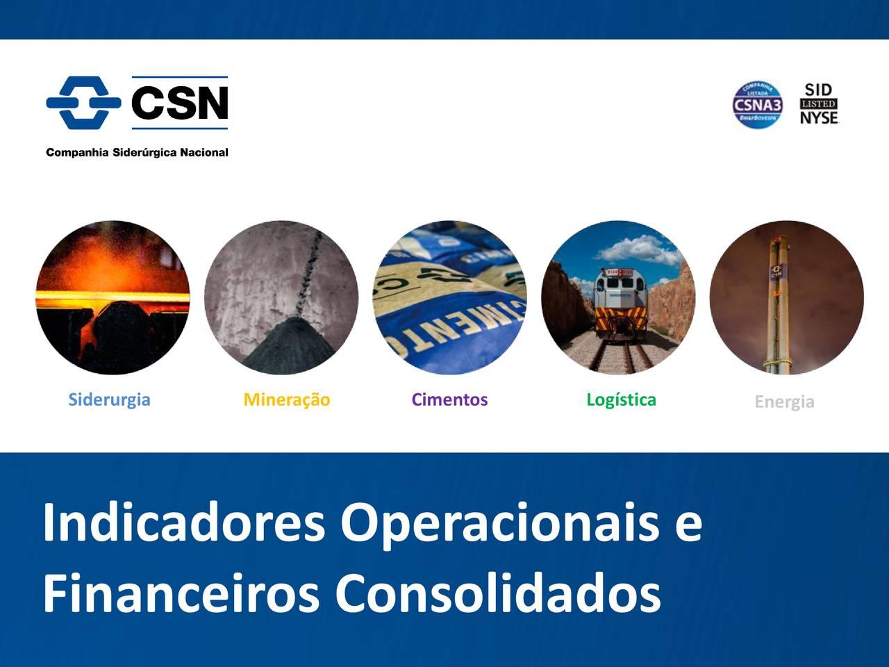 Indicadores Operacionais e Financeiros Consolidados