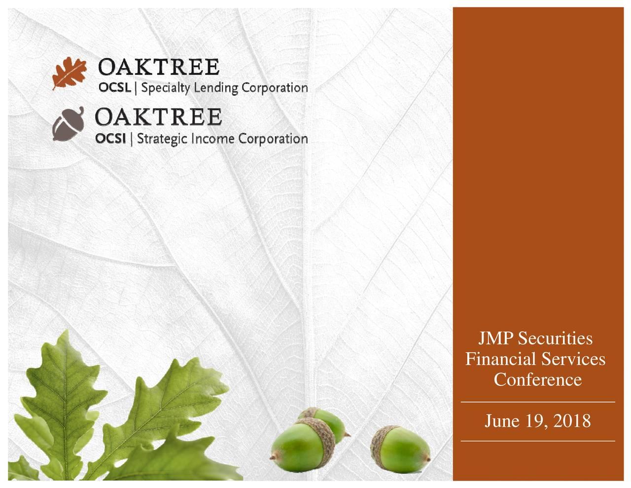 JMP Securitiese 19, 2018 Financial Services