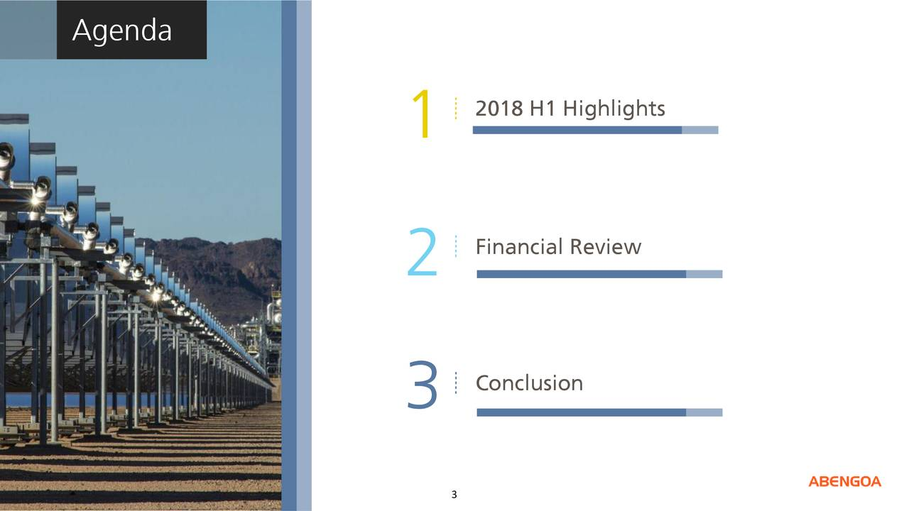 2018 H1 Highlights 1 Financial Review 2 3 Conclusion