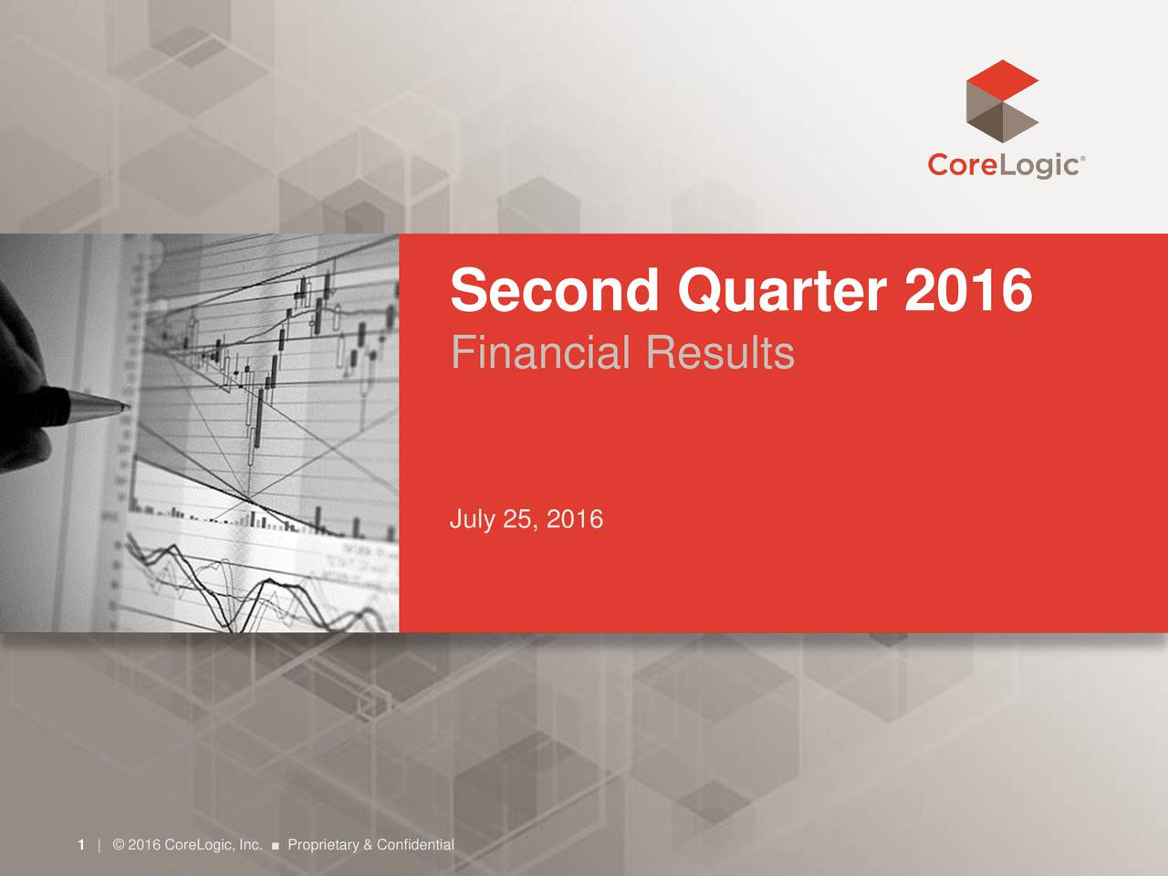 Financial Results July 25, 2016 1|  2016 CoreLogic, Inc.  Proprietary & Confidential
