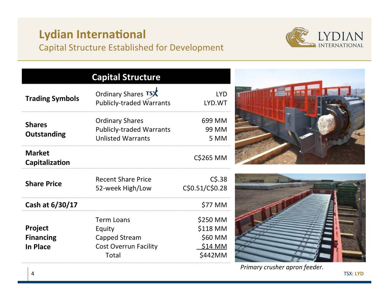 Lydian International Lydif Presents At 2017 Precious Metals Summit