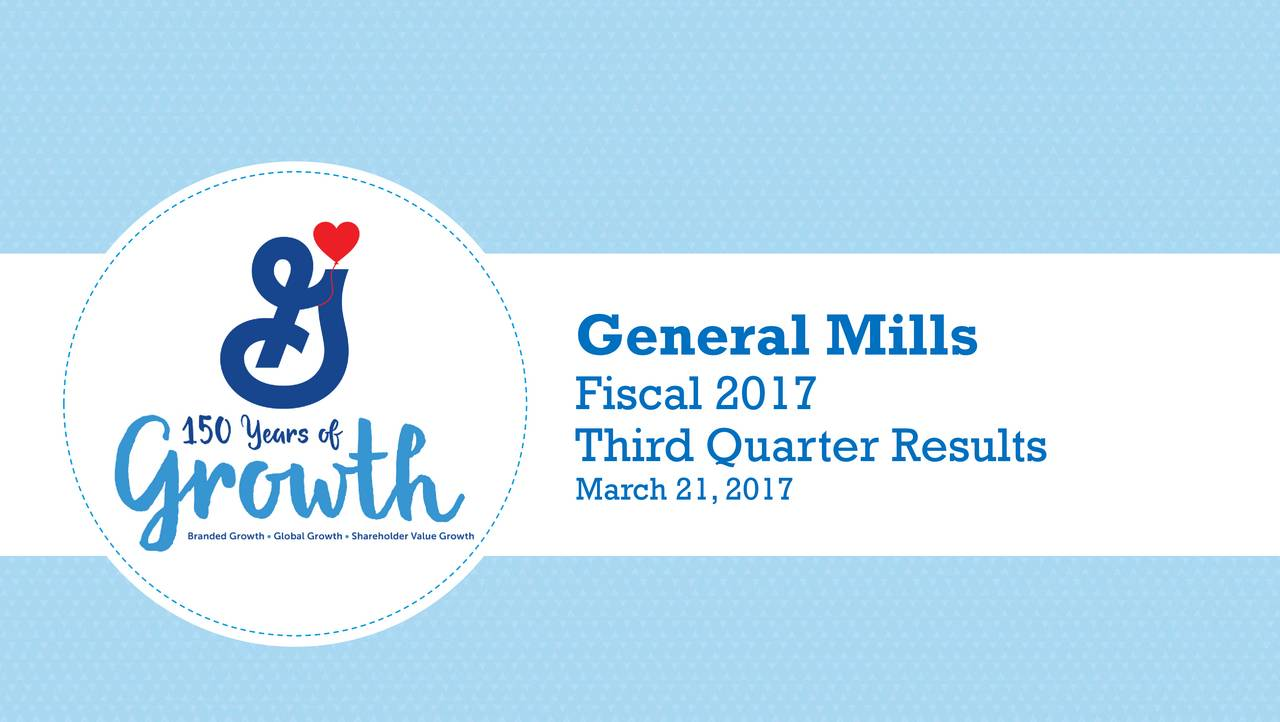 Fiscal 2017 March 21,2017 Results