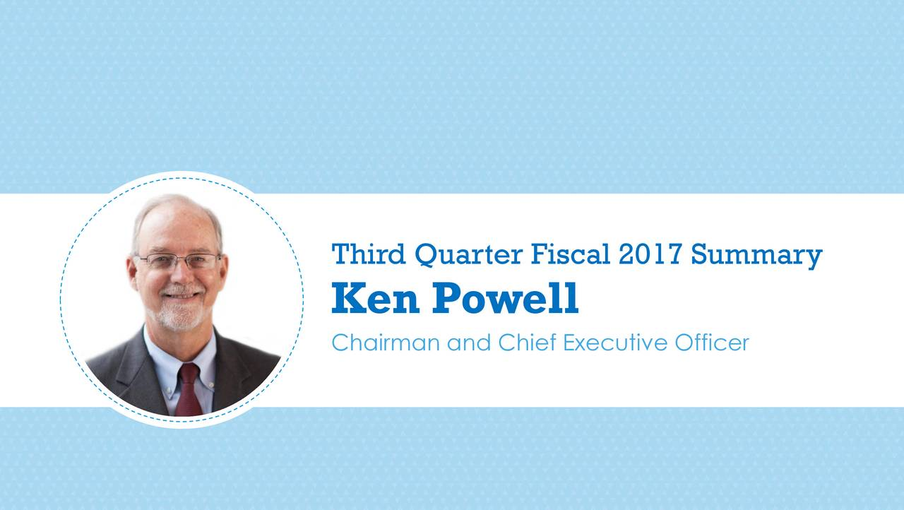 Ken Powell Chairman and Chief Executive Officer
