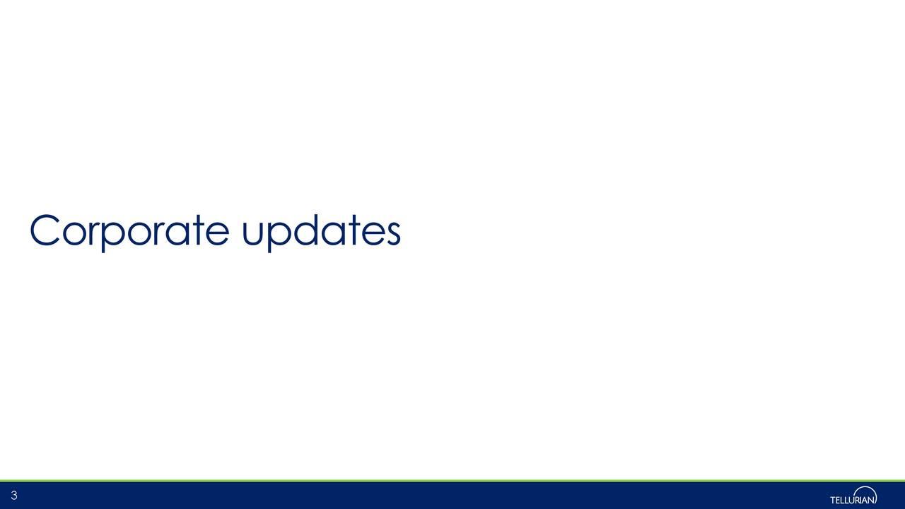 Corporate updates