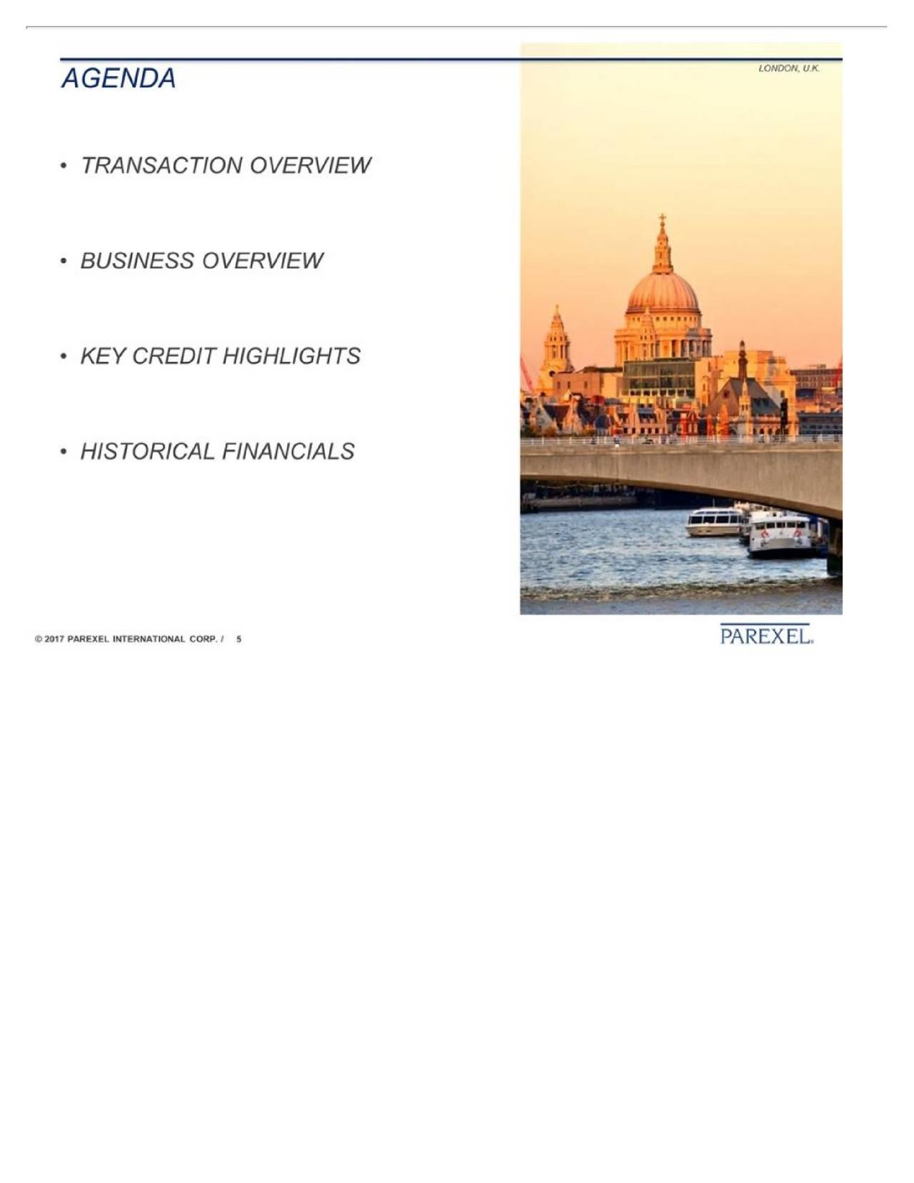 parexel international corporation  prxl  investor