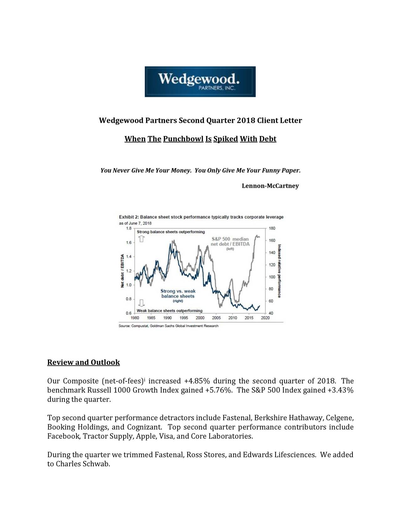 Wedgewood partners second quarter 2018 client letter when the when the punchbowl is spiked with debt you never give me your money spiritdancerdesigns Image collections