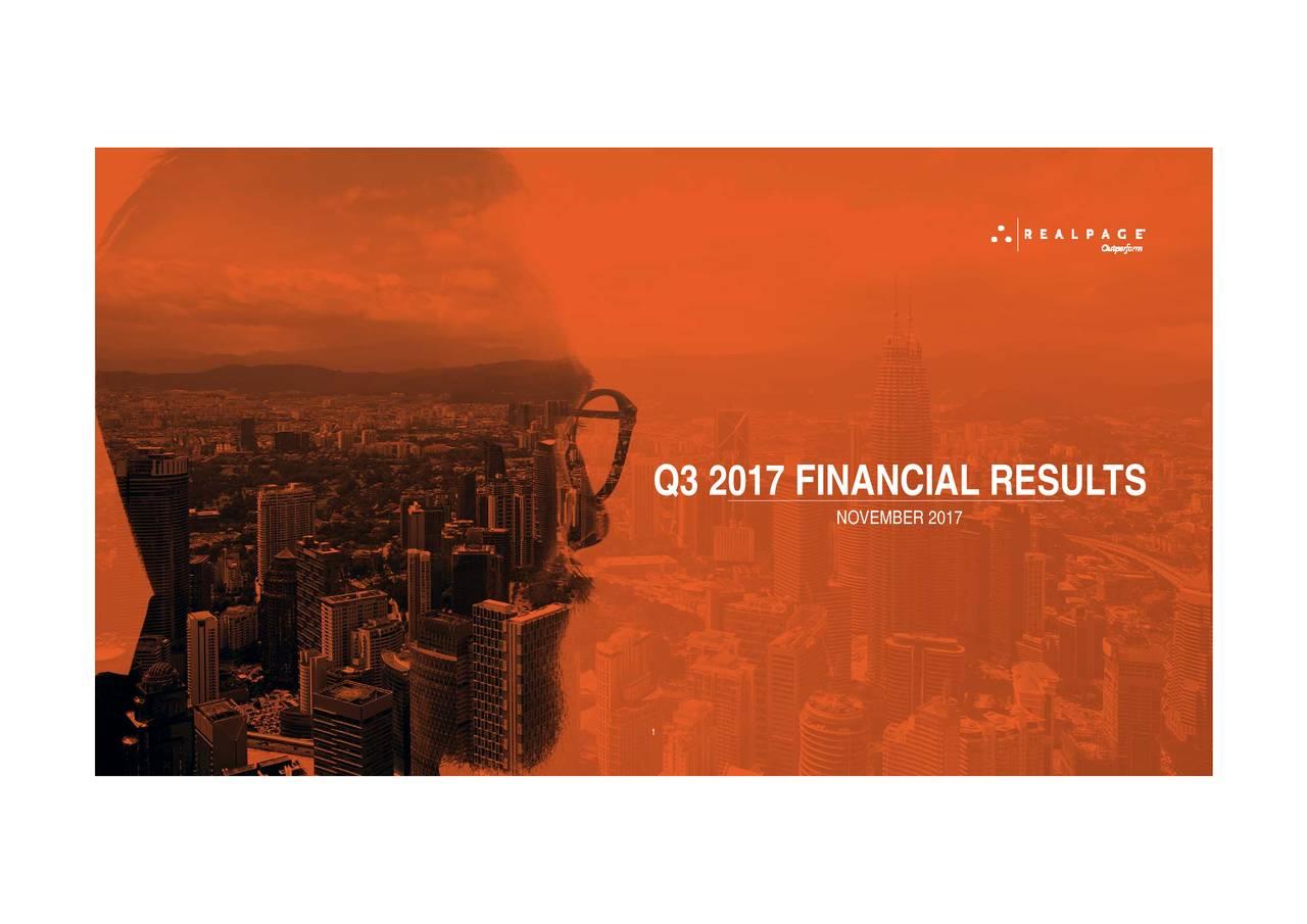 Q3 2017 FINANCIAL RESU1TS