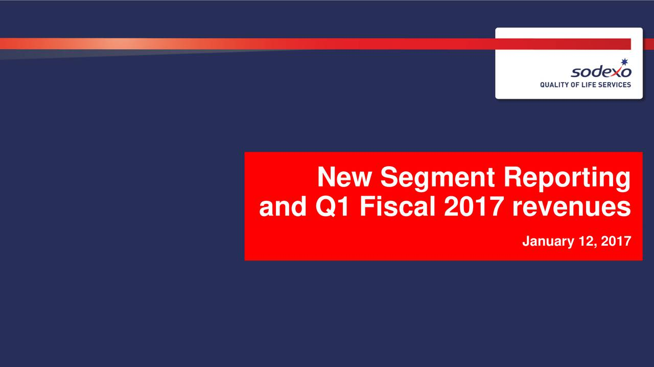 and Q1 Fiscal 2017 revenues rJanuary 12, 2017