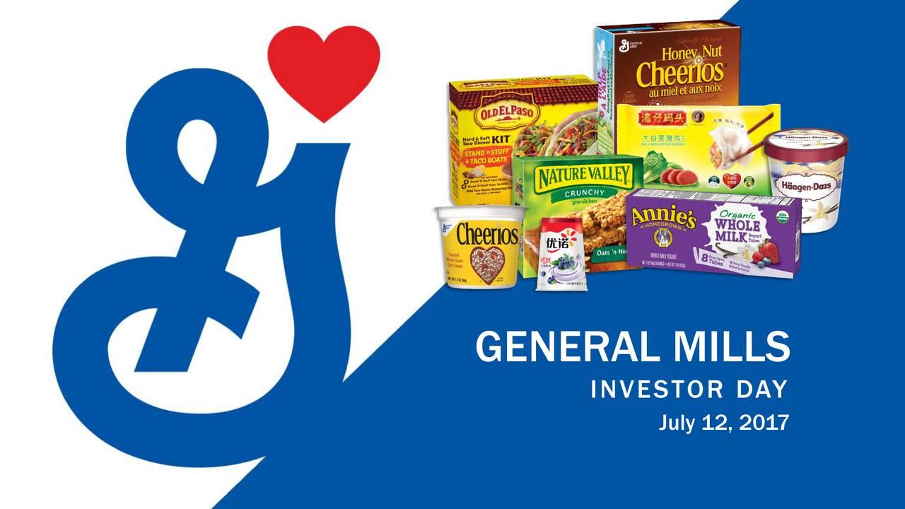 Investor Presentation   General Mills Gis Investor Presentation Slideshow General