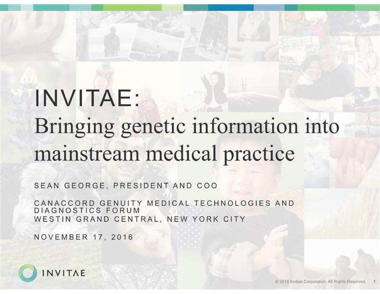 InVitae (NVTA) presents at Canaccord Genuity Medical
