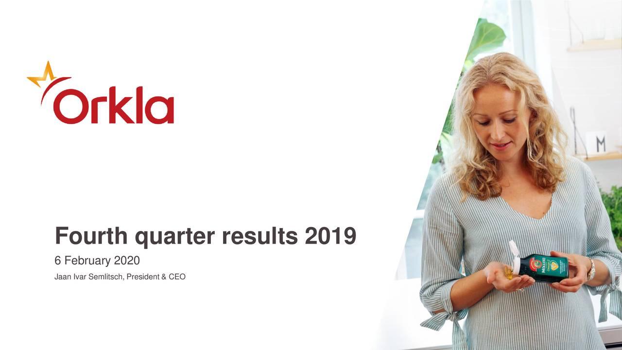 Fourth quarter results 2019