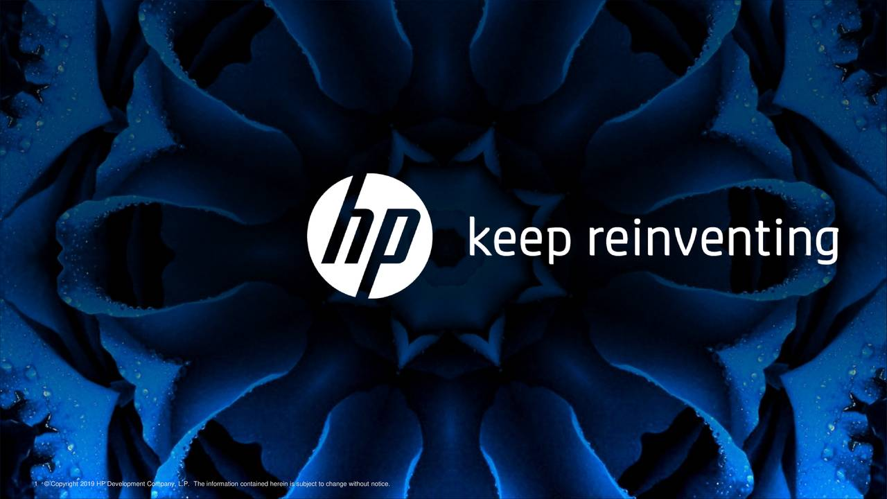 HP (HPQ) Presents At Citibank 2019 Global Technology Conference - Slideshow