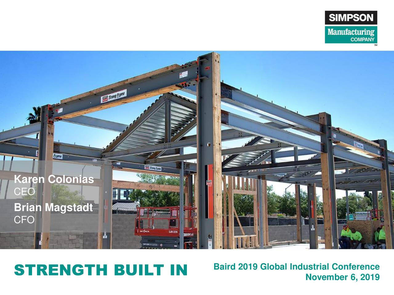 Simpson Manufacturing (SSD) Presents At Baird Global Industrial Conference - Slideshow - Simpson Manufacturing Co., Inc. (NYSE:SSD)   Seeking Alpha