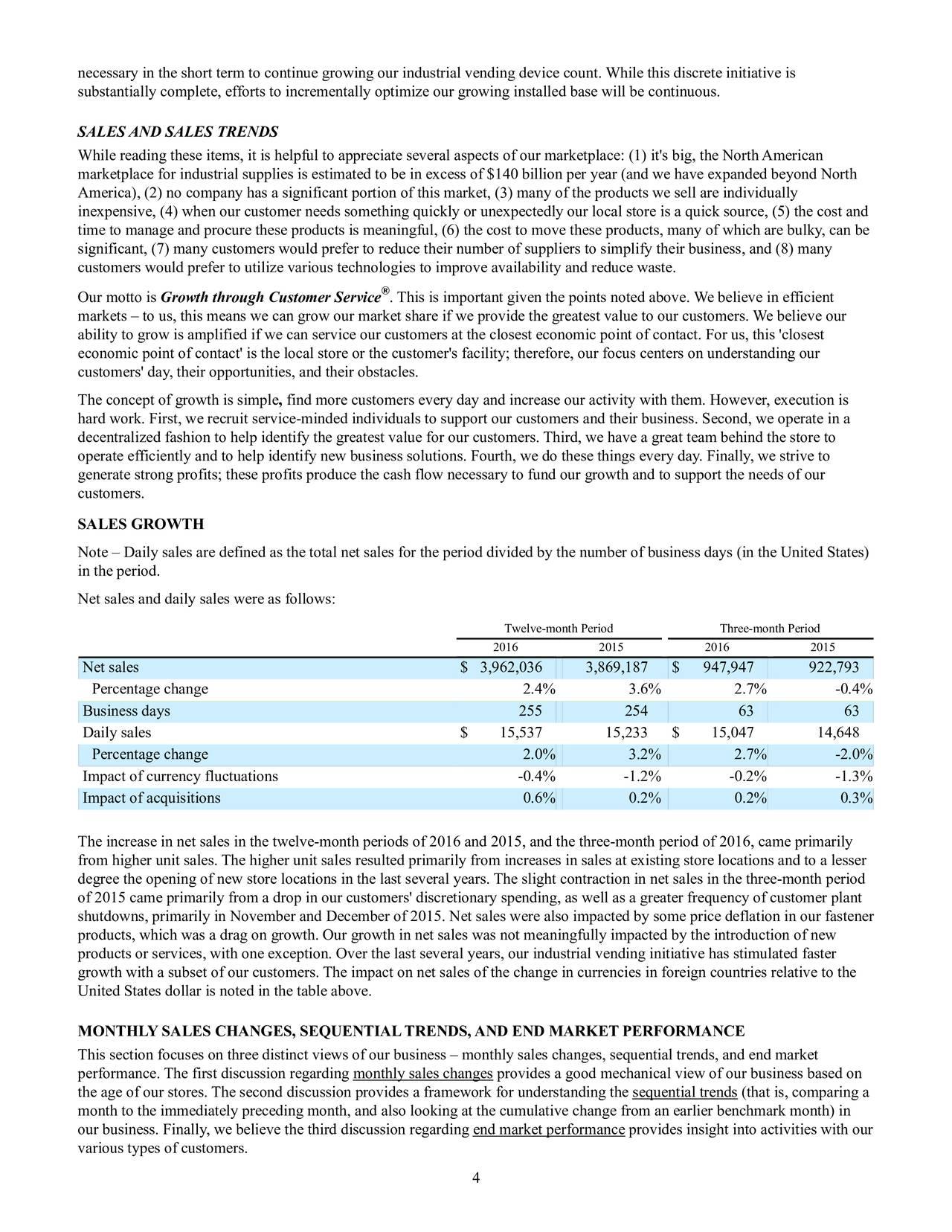 Fastenal Company 2016 Q4 - Results