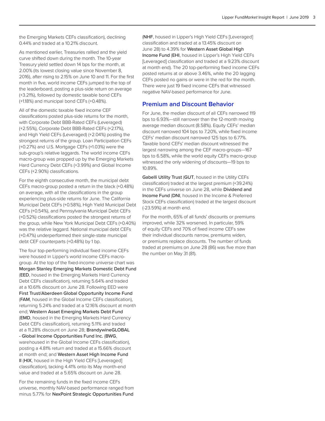 Lipper FundMarket Insight Report   June 20193