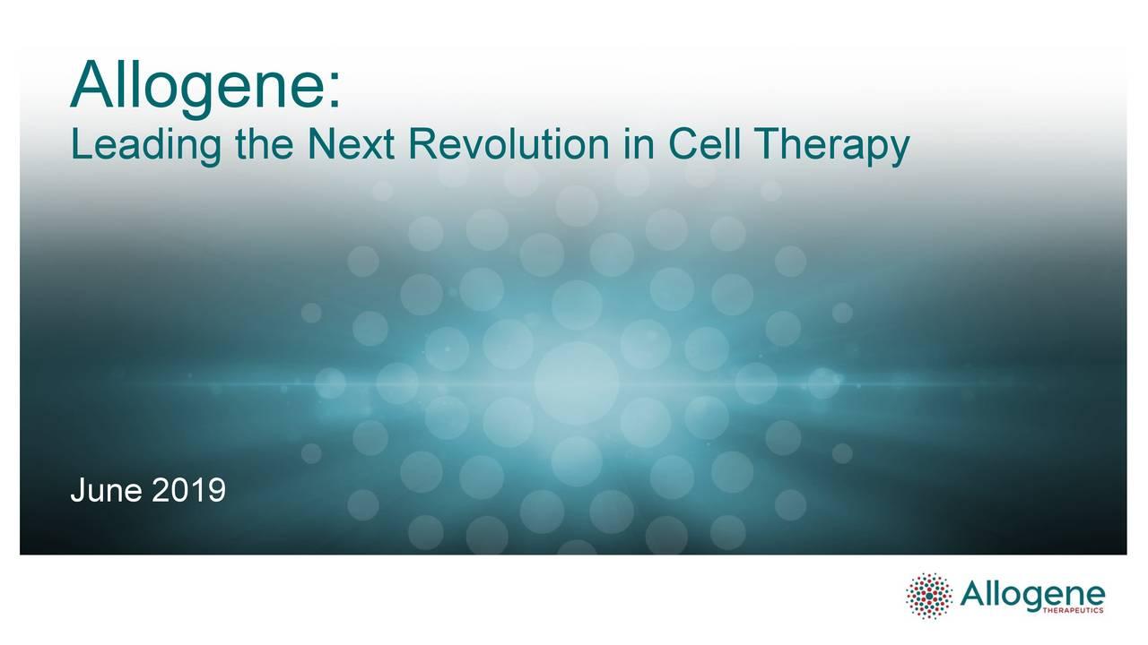 Allogene Therapeutics (ALLO) Investor Presentation - Slideshow