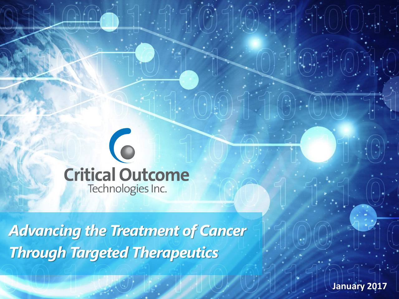 Through T argeted Therapeutics January 2017