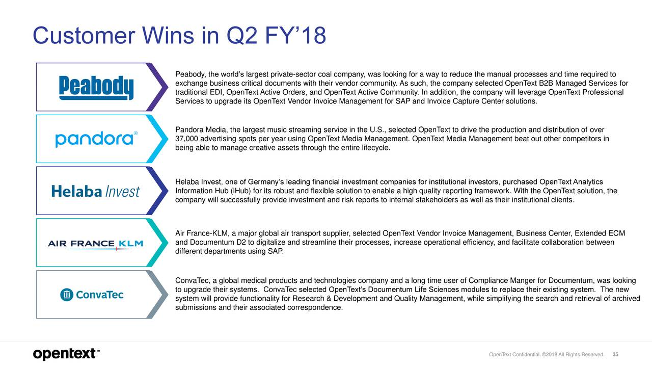 Open Text Corporation Q Results Earnings Call Slides - Invoice klm