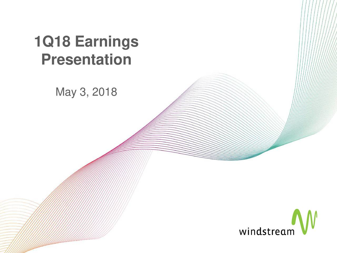 Windstream Holdings Inc 2018 Q1 Results Earnings Call Slides