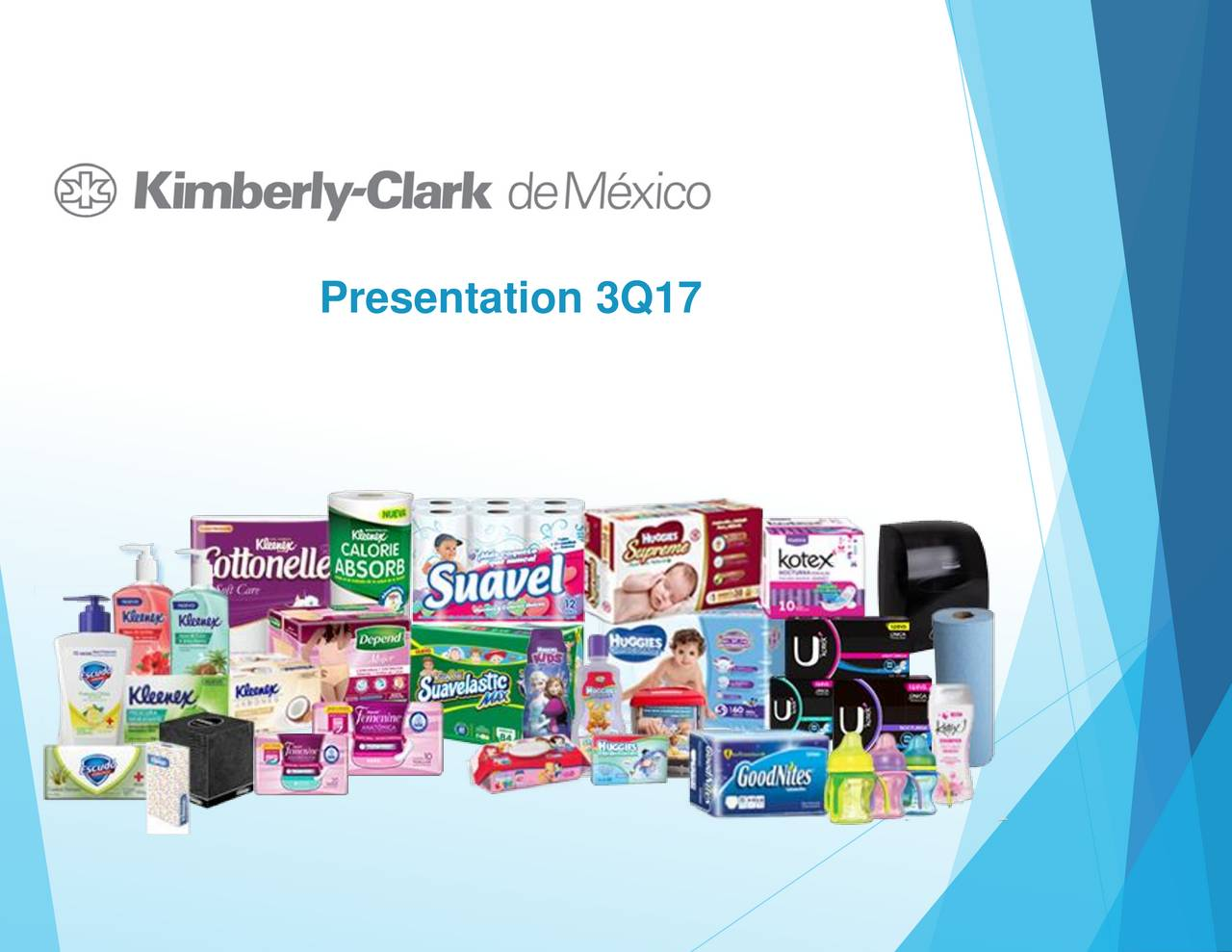 Earnings Disclaimer >> Kimberly-Clark de Mexico, S.A. de C.V. ADR 2017 Q3 - Results - Earnings Call Slides - Kimberly ...