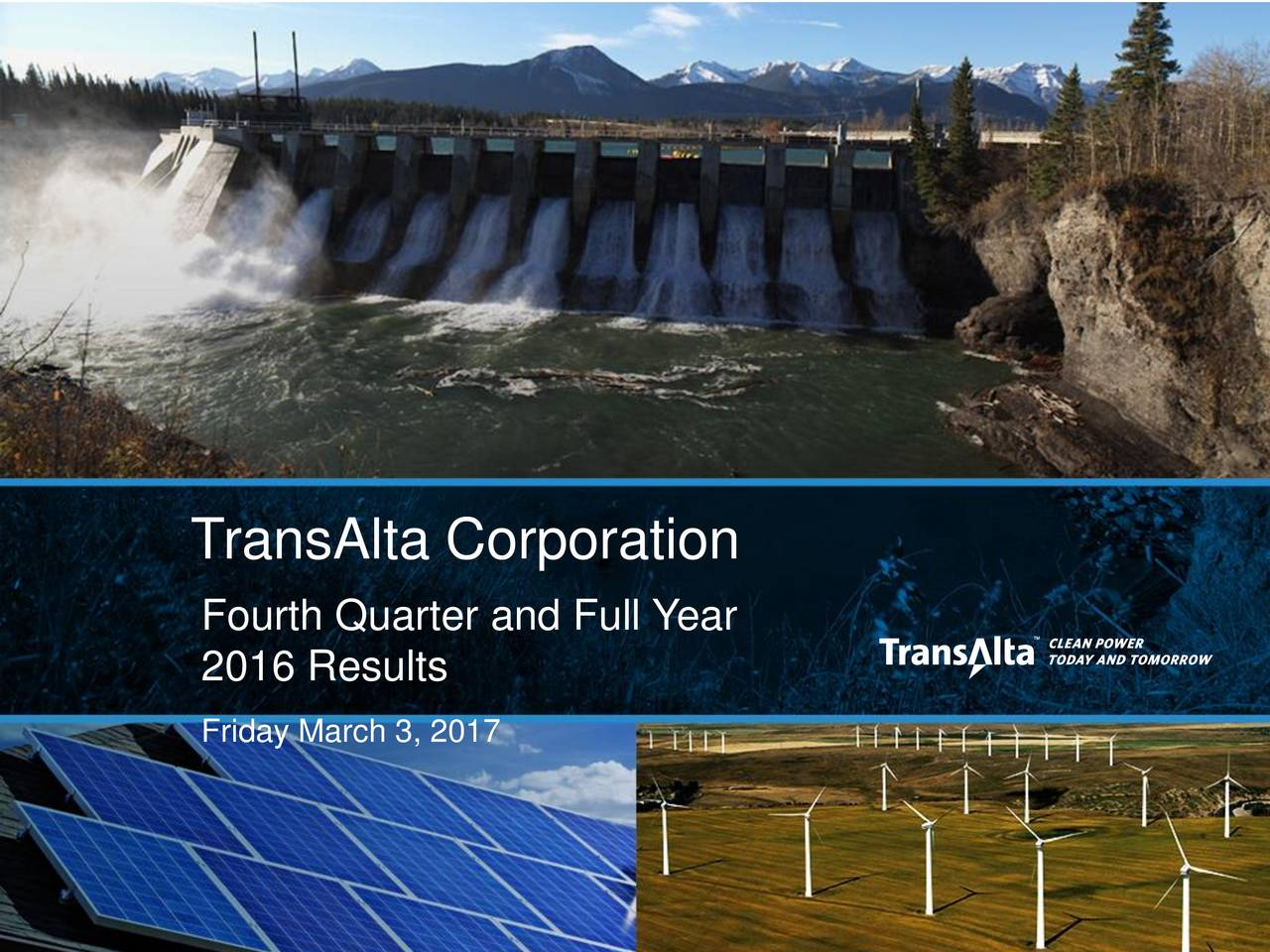 Fourth Quarter and Full Year 2016 Results Friday March 3, 2017 1