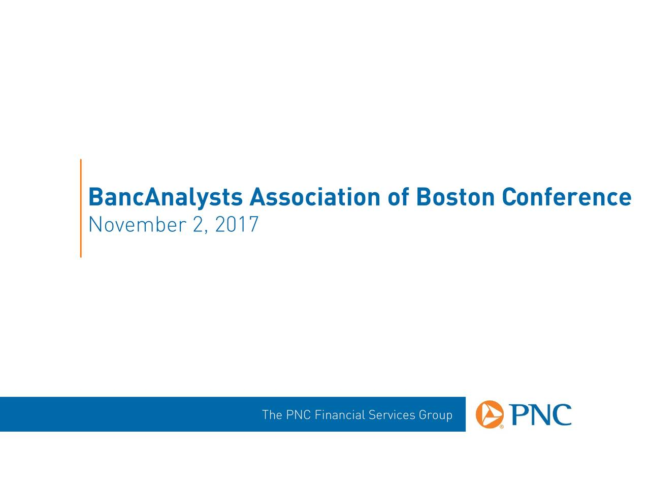 PNC Financial Services Presents at 36th Annual BancAnalysts