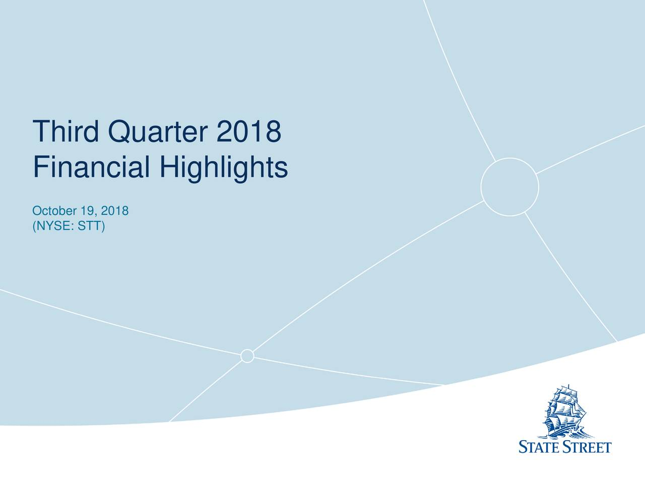 State Street Corporation 2018 Q3 - Results - Earnings Call Slides
