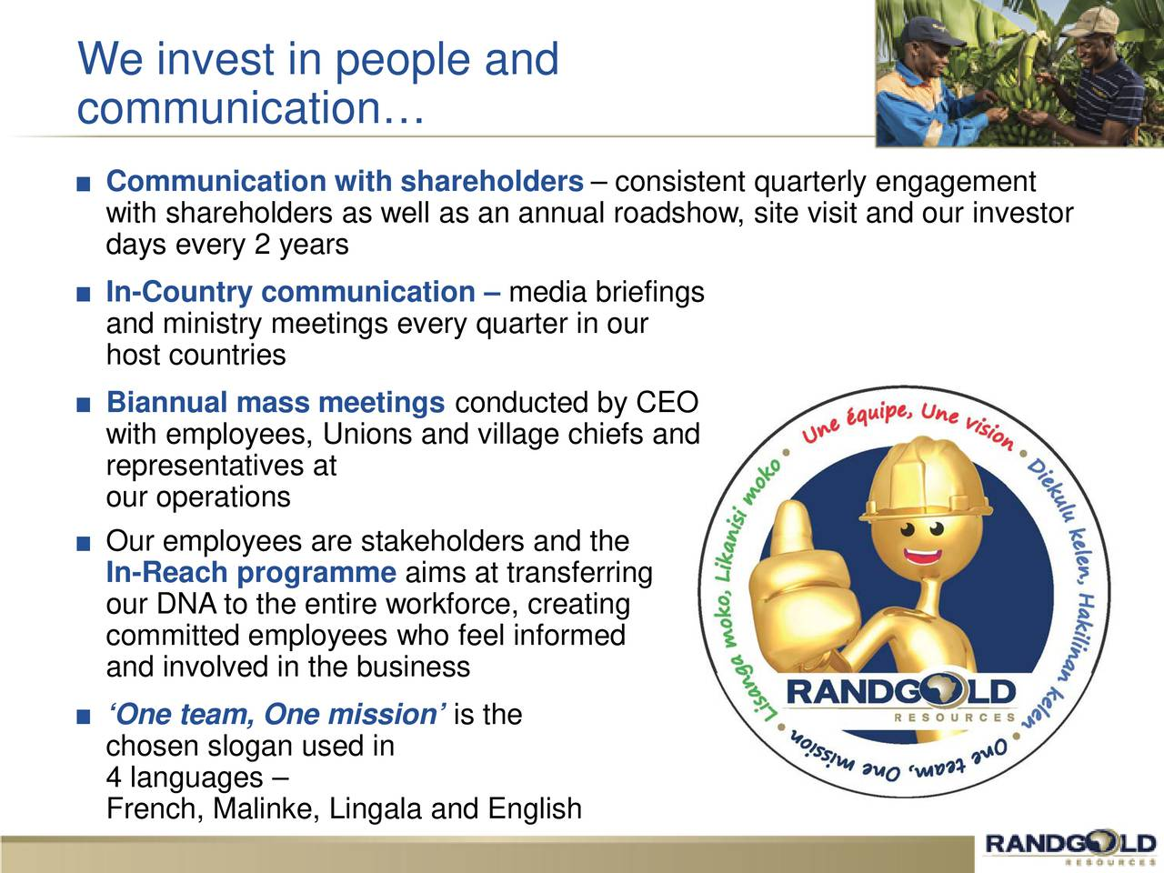Randgold resources gold investor presentation slideshow randgold resources gold investor presentation slideshow randgold resources limited nasdaqgold seeking alpha buycottarizona