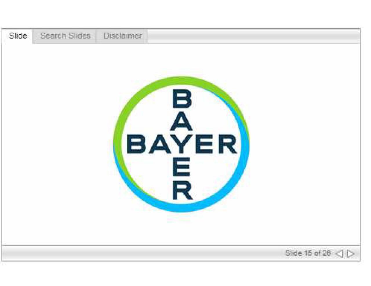 Bayer Bayry Investor Presentation Slideshow Bayer Ag Adr