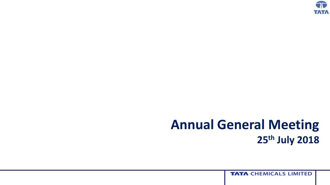 Tata Chemicals (TTQQY) Investor Presentation - Slideshow - Tata