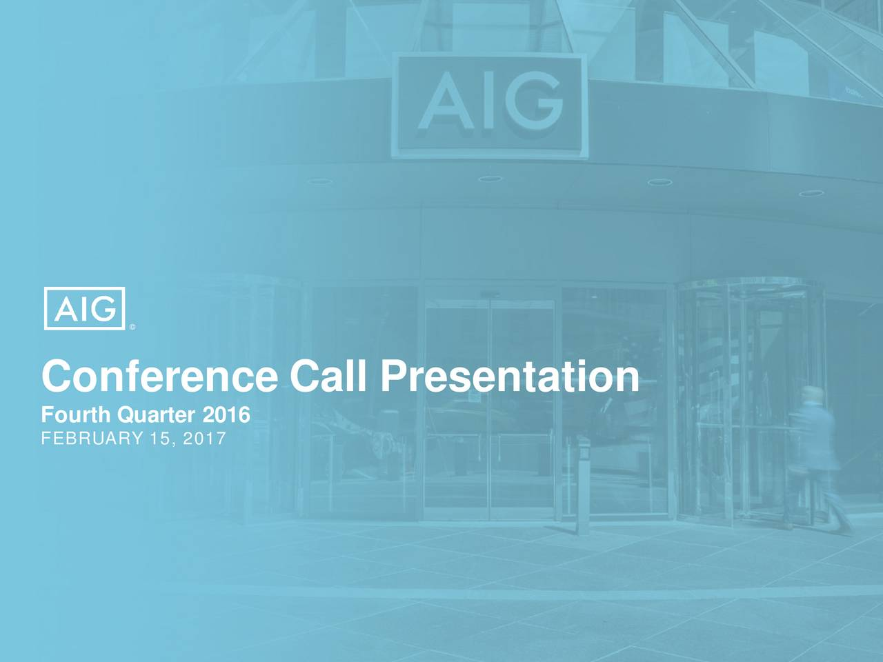 Conference Call Presentation FEBRUARY 15, 201716