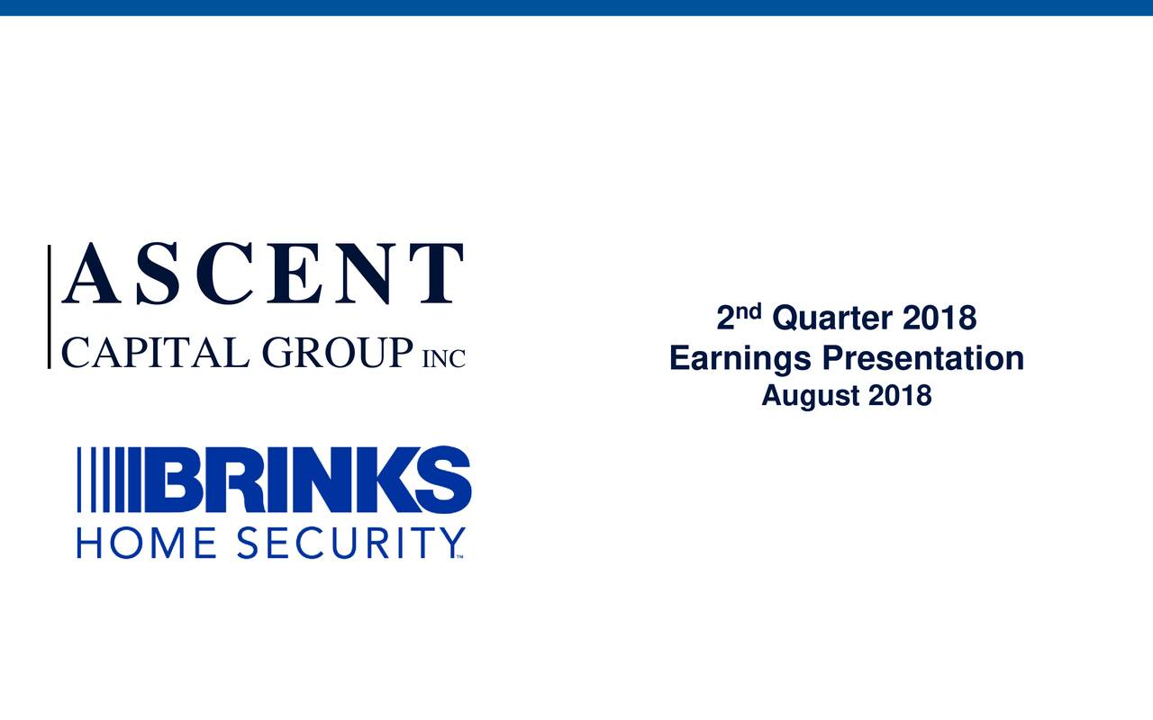 CAPITAL GROUP INC Earnings Presentation August 2018