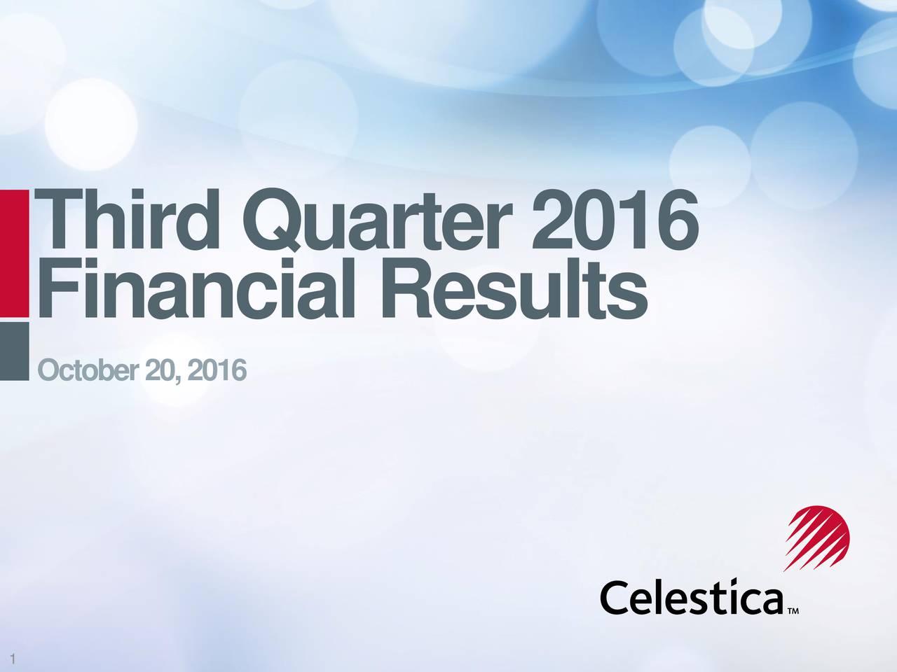 FinancialResu ls October20,2016