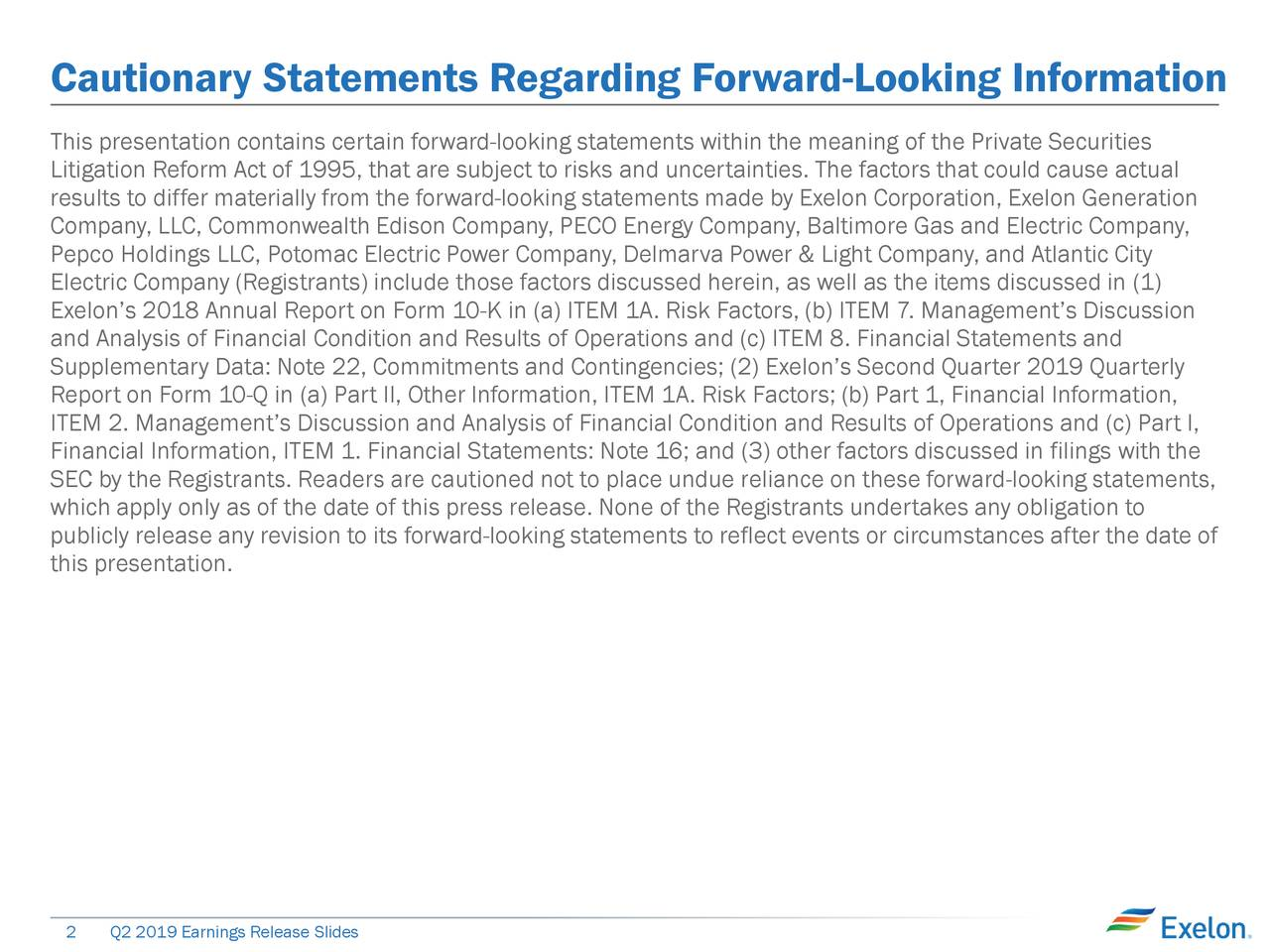 Cautionary Statements Regarding Forward-Looking Information