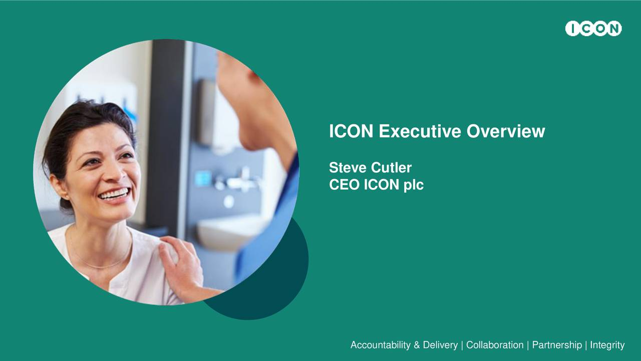 Steve Cutler CEO ICON plc Accountability & Delivery | Collaboration | Partnership | Integrity