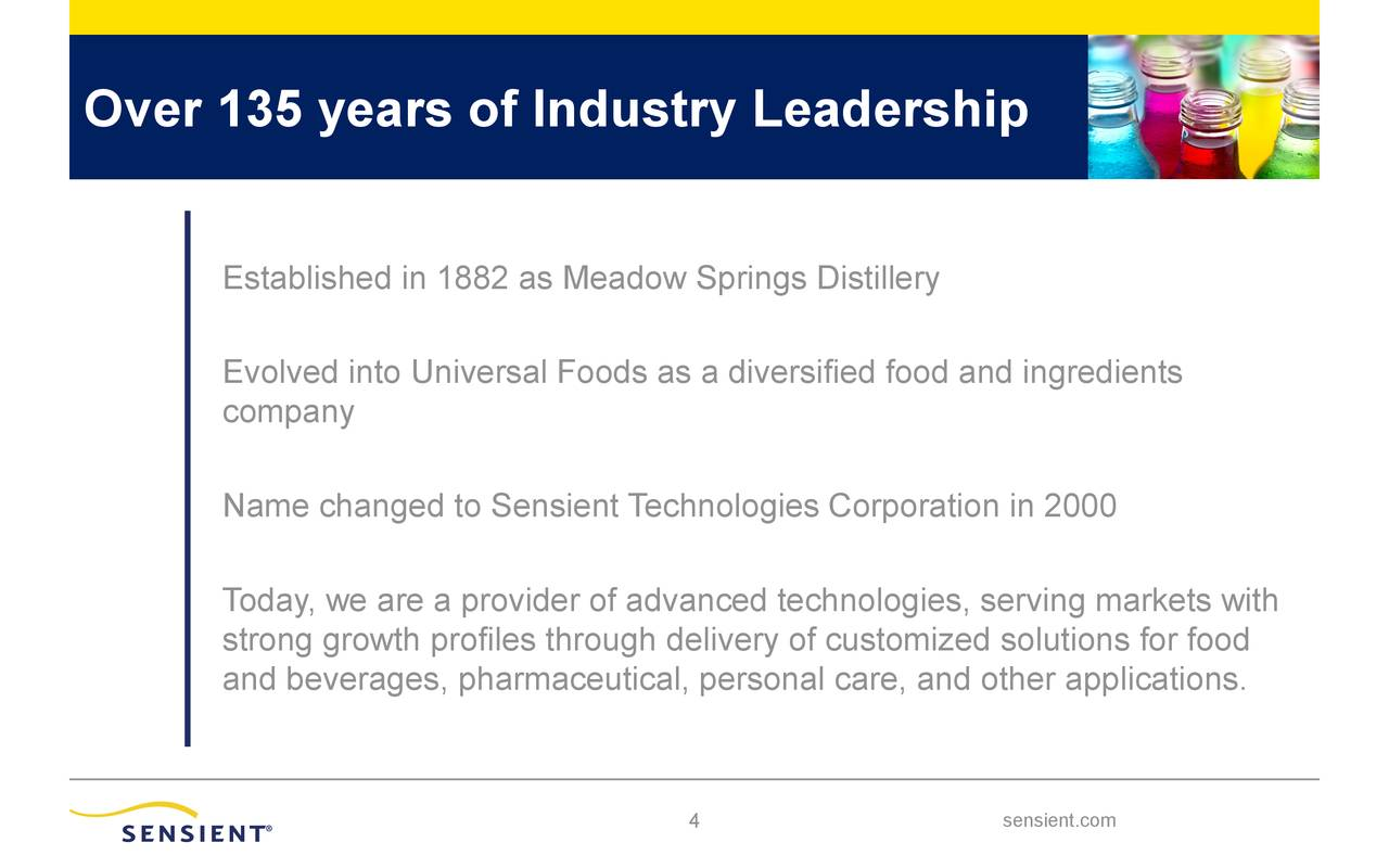 Over 135 years of Industry Leadership