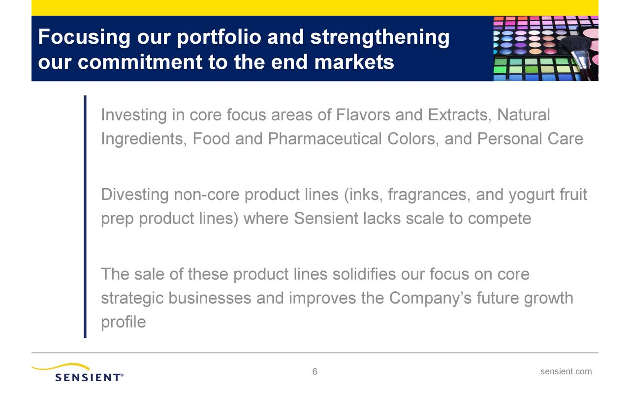 Focusing our portfolio and strengthening