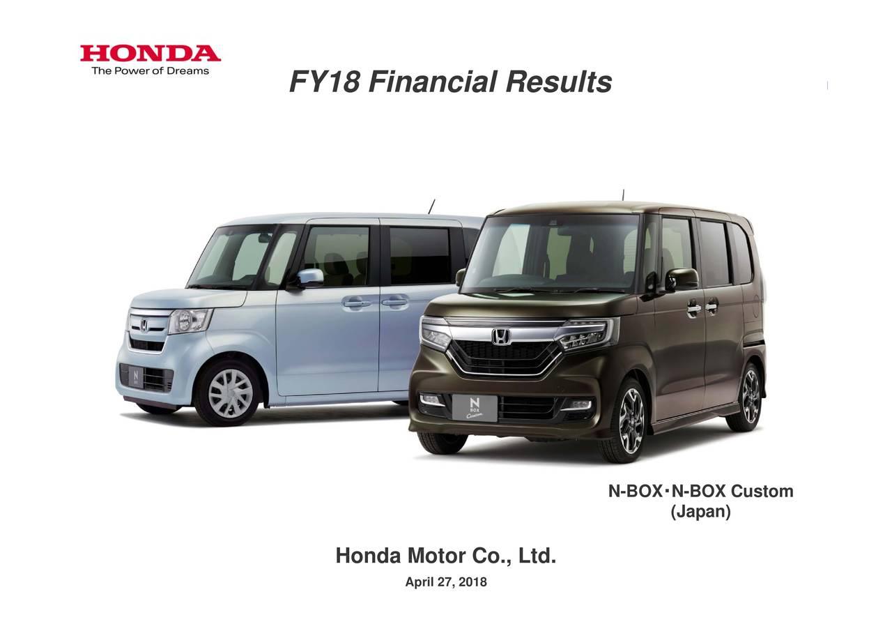 Honda Motor Co Ltd 2018 Q4