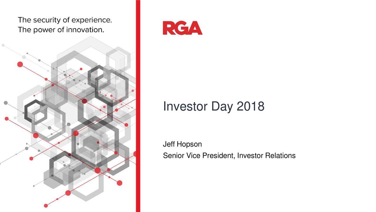 Jeff Hopson Senior Vice President, Investor Relations May 18, 2017