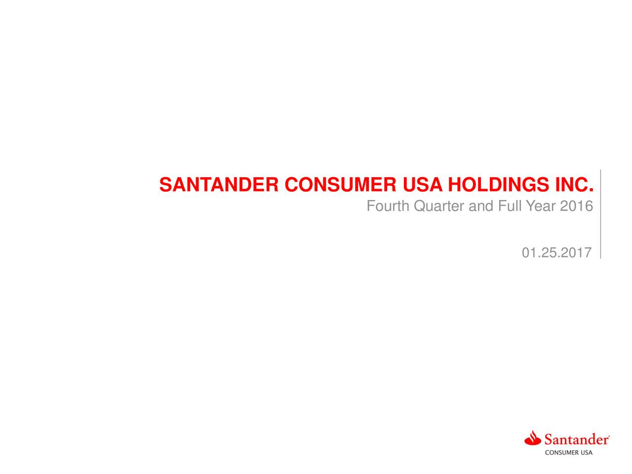 Santander Consumer Usa Holdings Inc 2016 Q4 Results Earnings