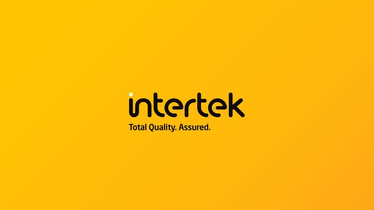 Earnings Disclaimer >> Intertek Group Plc 2016 Q4 - Results - Earnings Call ...