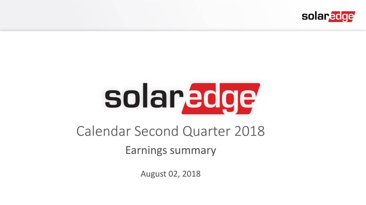 Earnings summary August 02, 2018