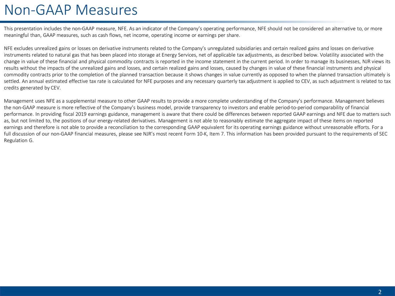 Non-GAAP Measures                                                                                                                                    2