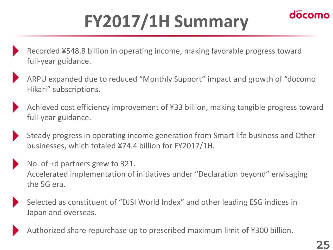 Ntt Docomo Inc 2017 Q2 Results Earnings Call Slides Otcmkts Dcmyy Seeking Alpha