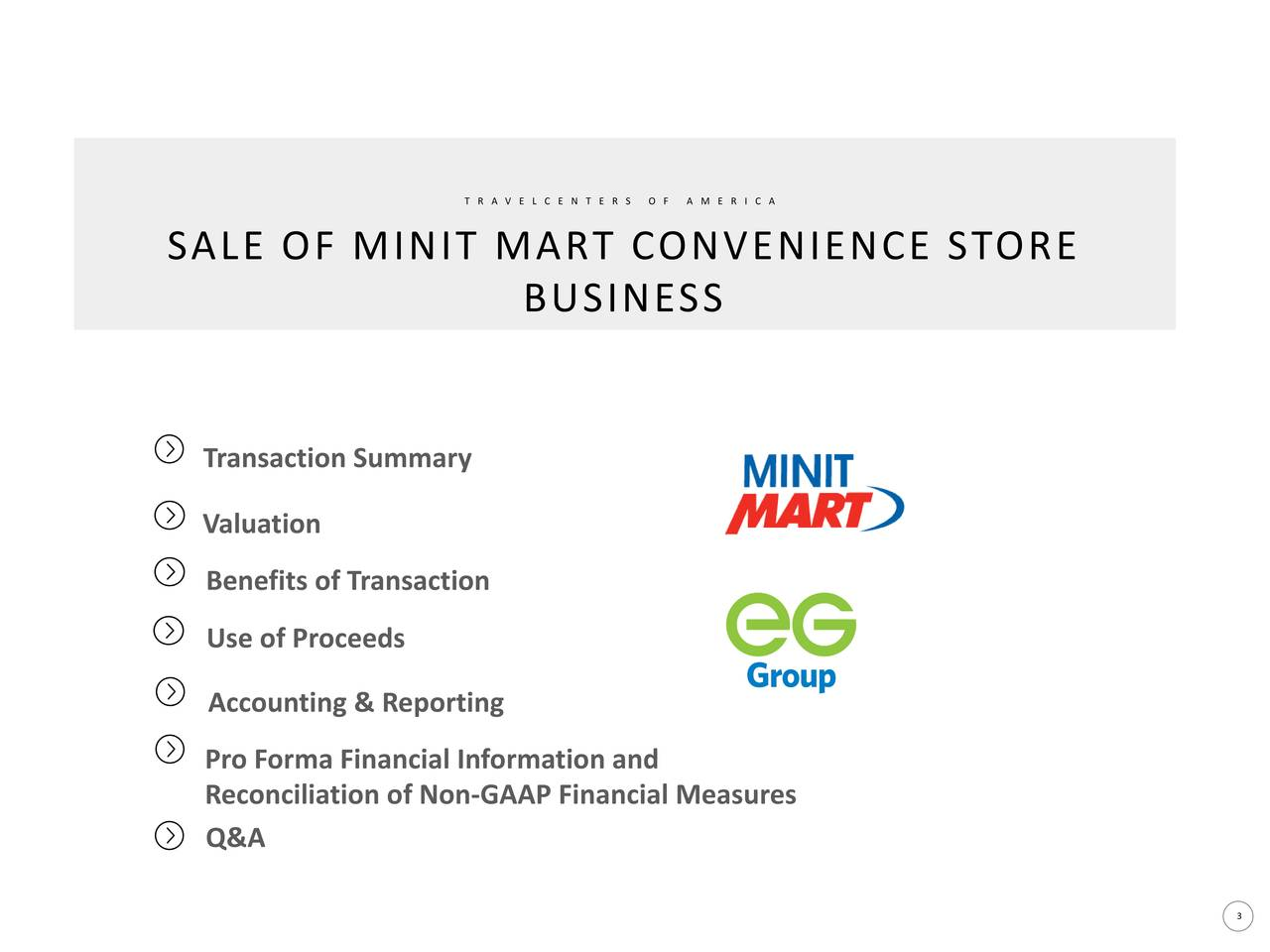 TravelCenters of America (TA) To Sell Minit Mart